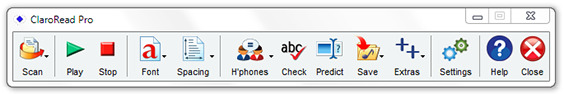Claroread V5 toolbar screenshot