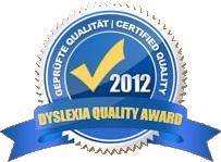 Dyslexia Quality Award 2012
